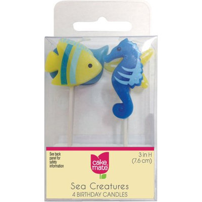 Cake Mate Sea Creature Birthday Candles, 4 count