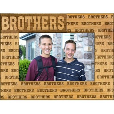 Giftworks Plus FAM5026 Brothers - Repeating, Alder Wood Frame, 4 x 6 In
