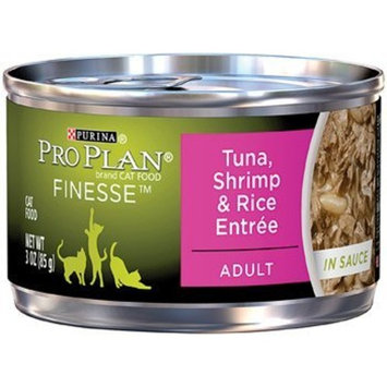 Pro Plan Finesse Tuna, Shrimp & Rice Adult Canned Cat Food in Sauce, 3 oz.