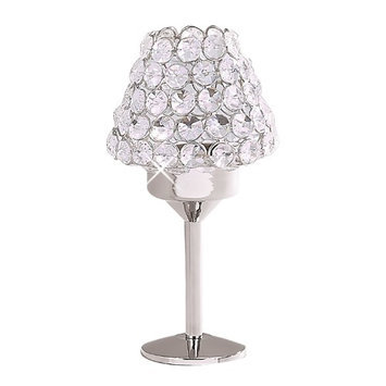 Elegance Sparkle Crystal Candle Lamp With Shade