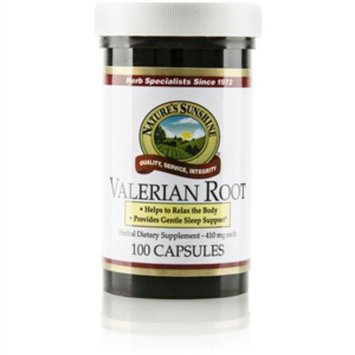 Naturessunshine Valerian Root Supports Nervous System 410 mg 100 Capsules (Pack of 4)