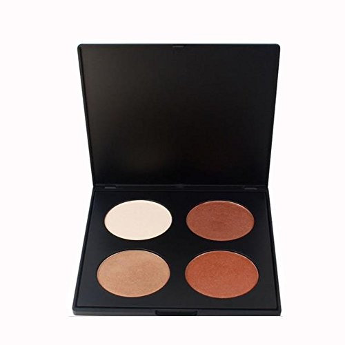 IS'MINE Makeup contour kit bronzer & highlighter powder contour kit 2 colors light 2 medium
