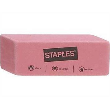 Staples Pink Wedge Erasers