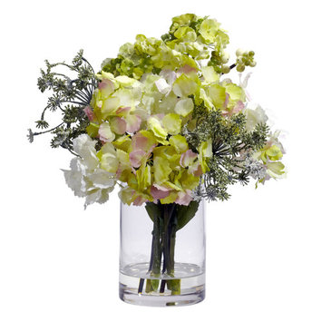 Hydrangea Silk Flower Arrangement
