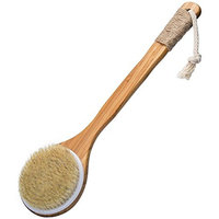 Bath Dry Body Brush-Natural Bristles Back Scrubber With Long Wooden Handle for Cellulite & Exfoliating by VAMIX