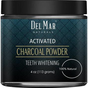 Del Mar Naturals Activated Charcoal Teeth Whitening Activated Charcoal Powder, Natural Teeth Whitener - 4 oz,