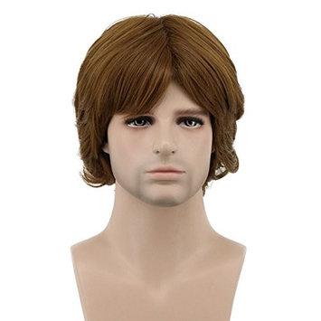 Karlery Men's Short Wave Brown Wig Halloween Cosplay Wig Costume Party Wig