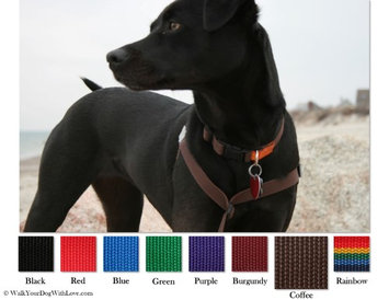 Walk Your Dog With Love No-Choke No-Pull Front-Leading Dog Harnesses, Original Edition, Sizes From 5 to 250 lbs, Coffee Bean