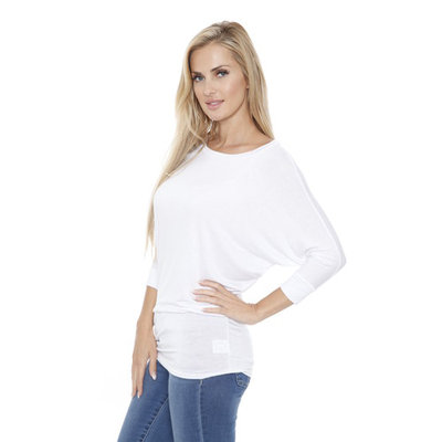 White Mark Banded Dolman Top [Fit : Women's]