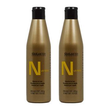 Salerm Nutrient Vitamin Shampoo 9oz / 250ml (Pack of 2)