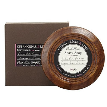 Shave Soap Cuban Cedar + Lime 3.5oz shave soap by Bath House