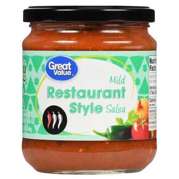 Great Value Mild Restaurant Style Salsa, 16 oz