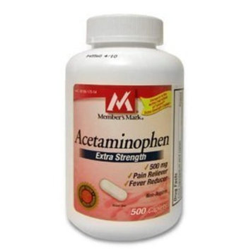 Acetaminophen Generic 500 mg Extra Strength - 600 Caplets