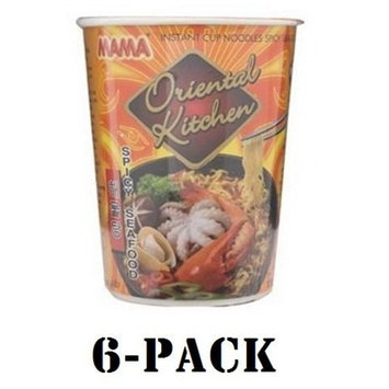 Mama Cup Instant Noodles Oriental Kitchen Spicy Seafood Flavour 65g (6-pack)