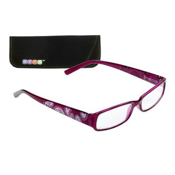 Select-A-Vision Deco Paisley Frame Reading Glasses, Red, 3.00