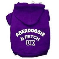 Mirage Pet Products Aberdoggie UK Screenprint Pet Hoodies Purple Size XS (8)