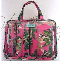 Vera Bradley 4 Piece Cosmetic Bag Organizer Tropical Paradise