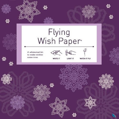 Hux Creative Flying Wish Paper Purple Snow, Large