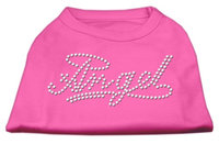Mirage Pet Products 5205 XXXLBPK Angel Rhinestud Shirt Bright Pink XXXL 20