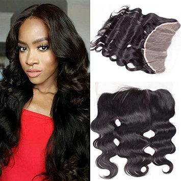 RECOOL Brazilian Hair Body Wave Frontal Closure with Baby Hair 13x4 Ear to Ear Lace Closure Virgin Human Hair Natural Color