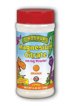 Dinosaurs Magnesium Citrate Powder 160 mg Orange) Kal 8.32 oz Powder