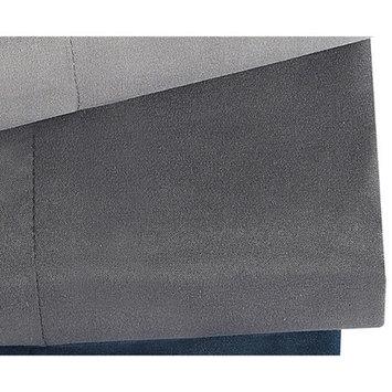 London Fog Solid Oyster Dark Gray Bedding Sheet Set