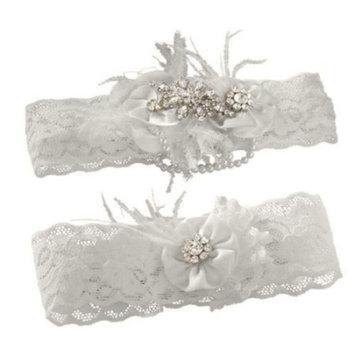 Rhinestone Pearl Vintage Garter Set