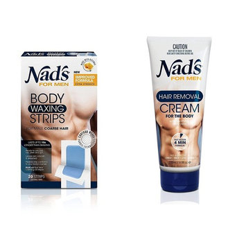 Nad's for Men Hair Removal (Cream + Strips (Combo))