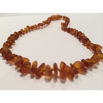 Baltic Amber Teething Necklace for Babies 12, 12.5, 13, 13.5, or 14 inches (Unisex) (Honey Lemon Cognac) Raw Unpolished - Baby, Infant, and Toddlers will all benefit. Anti Flammatory, Drooling & Teething Pain Reduce Properties - Natural Certificated Oval Baroque Round Baltic Jewelry with the Highest Quality Guaranteed. Easy to Fastens with a Twist-in Screw Clasp Mothers Approved Remedies! Yellow Brown (12.5 Inches, Cognac)