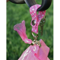 Poopy Carrier Classic Style Polka Dog Poop Bag Carry, Pink