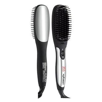 NEXGADGET Ionic Hair Straightening Brush with MCH heating technology ,Professional Heated Ceramic Straightener Comb,Anion spray, Anti-Scald Comb Teeth