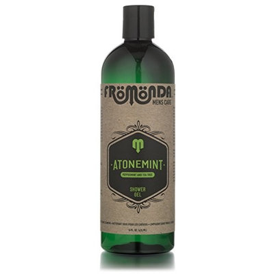 AtoneMint Shower Gel. All Natural. Organic Ingredients. Peppermint & Tea Tree Scent, 16 oz