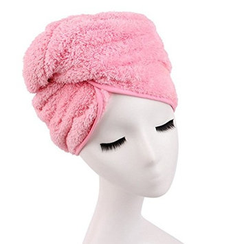 G2PLUS Microfiber Hair Towel for Women, Fast Drying Hair Towel Wrap with Button