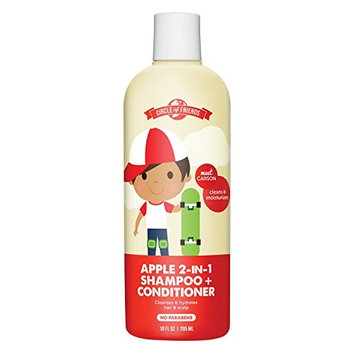 Circle of Friends Carson's 2-in-1 Shampoo Plus Conditioner, Apple, 10 Fluid Ounce