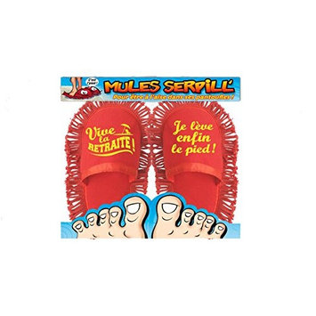 Mop Slippers Mules Humorous Retirement One Size (Length 27 cm)