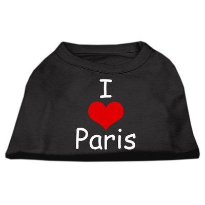 Mirage Pet Products 5137 XSBK I Love Paris Screen Print Shirts Black XS 8
