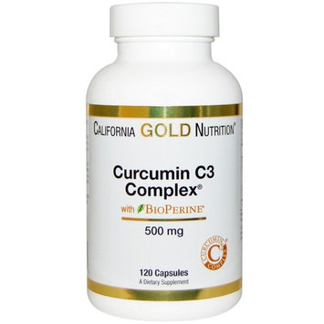 California Gold Nutrition, Curcumin C3 Complex with BioPerine, Inflammation Support Formula, 500 mg, 120 Veggie Capsules