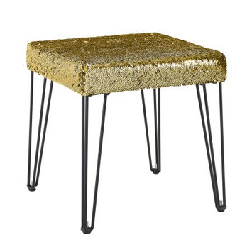 Linon Home Decor Products, Inc. Mainstays Sequin Stool - Gold/Silver