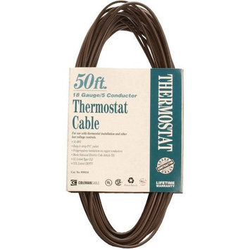 Coleman Cable 096340007 18/5 50' Thermostat Wire in Brown