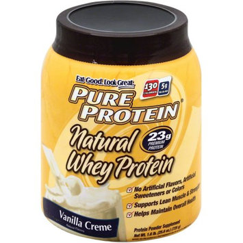 Pure Protein Whey Protein Natural Vanilla, 25.6 OZ
