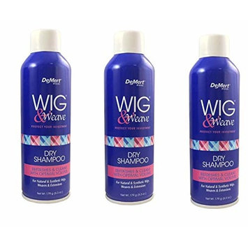 [VALUE PACK OF 3] DEMERT WIG & WEAVE DRY SHAMPOO REFRESH & CLEANS 6.3 OZ : Beauty