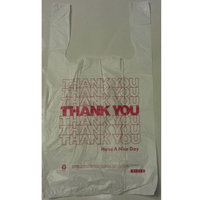 Barnes Paper Company 10519THYOU Thank You High-Density Shopping Bags, 10w x 5d x 19h, White (Case of 2000)