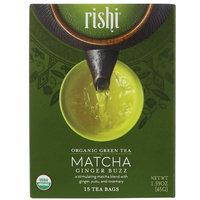 Rishi Tea, Organic Green Tea, Matcha Ginger Buzz, 15 Tea Bags, 1.59 oz (45 g) [Flavor : Matcha Ginger Buzz]