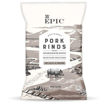 EPIC New Artisanal Pork Rinds Snack 2.5oz (Sea Salt & Pepper, 6 Pack)