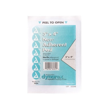 Dynarex Non-Adherent Pads Sterile 3