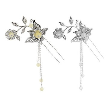 Homyl 2packs Chic Hair Pin Clip Long Tassel for Kimono Hanfu Cosplay Drama Pick