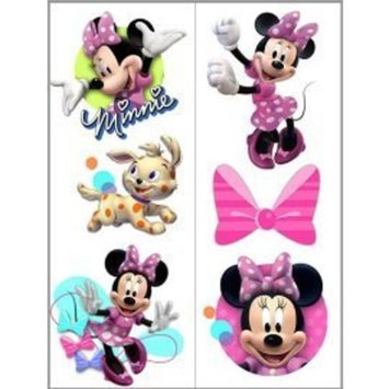 Temporary Party Tattoos , 1 pkg (Minnie Bow-Tique Temporary Tattoos)