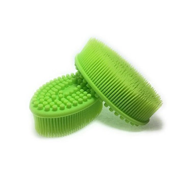 Silicone Loofah Bath & Shower Brush - Green