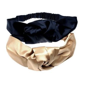 L. Erickson USA Silk Charmeuse Knot Turban - Silk Charmeuse White