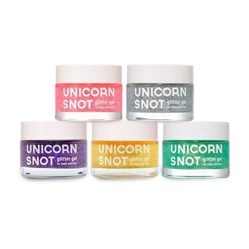 Unicorn Snot - Holographic GLITTER GEL SET for Body, Face, and Hair - Value Set of Five (5) in 50ml Pink, Purple, Blue, Silver and Gold (Vegan & Cruelty-Free)